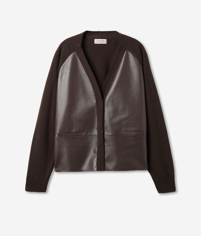Cashmere and Leather cardigan