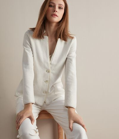 Knitted Jacket with Trim