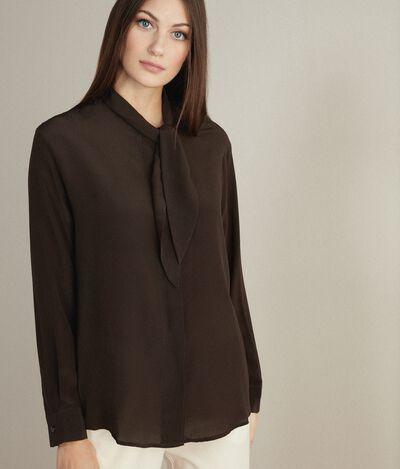Silk Shirt with Bow