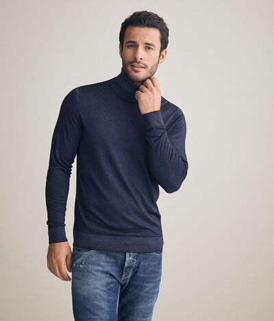 Ultralight cashmere turtleneck sweater