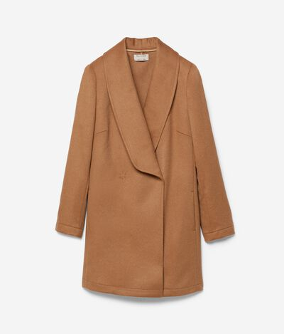 Cashmere Double-Breasted Basic Overcoat