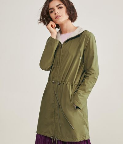 Technical Fabric Duster Coat
