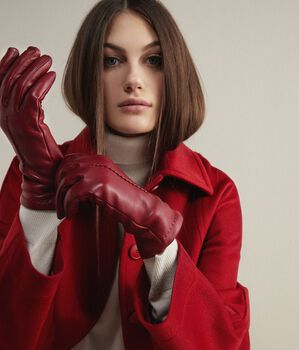 Cashmere Leather Gloves