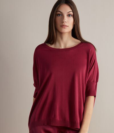 Boatneck Sweater in Silk and Cotton