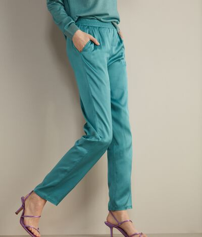 Satin Cigarette Pants