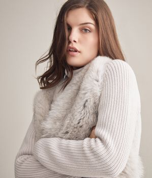 Cashmere And Fur Coat