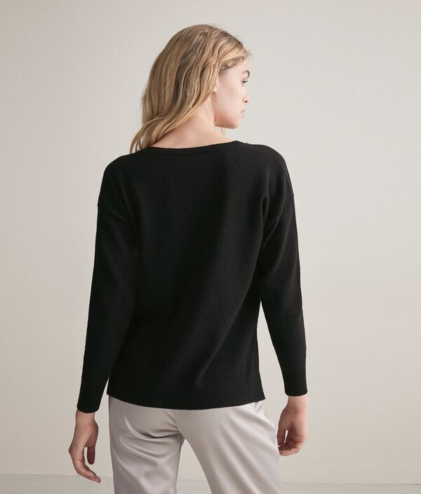 Oversize Ultrasoft Cashmere Jumper with Slits