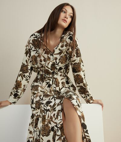 Printed Silk Dress