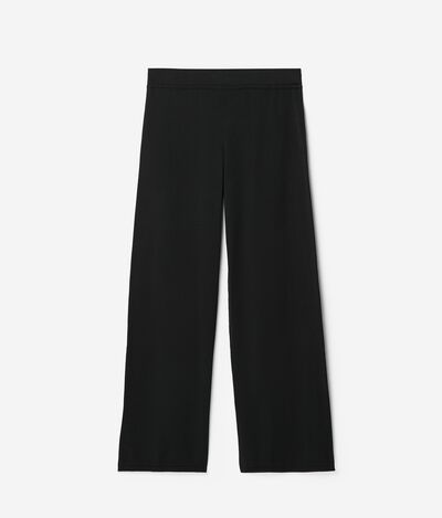 Silk and Cotton Palazzo Trousers