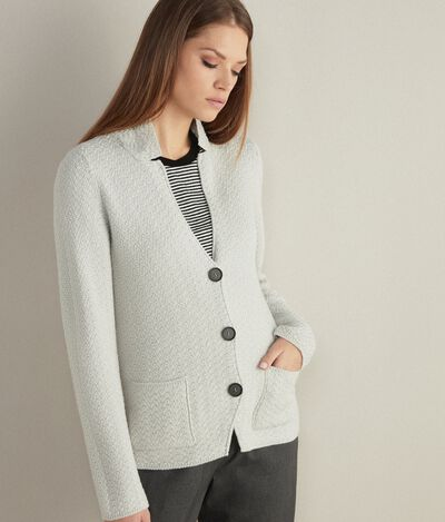 Masculine Inspired Knitted Wool Jacket