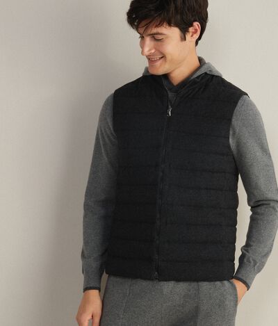 Down Gilet with Cashmere Lining
