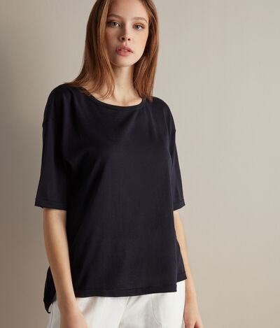 Oversized Silk and Cotton T-shirt