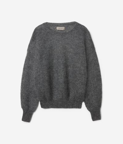 Mohair and Lamè Round-Neck Jumper