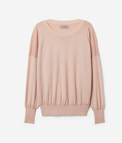 Ultralight Cashmere Sweater with Wide Sleeves