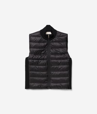 Knit Detail Quilted Waistcoat