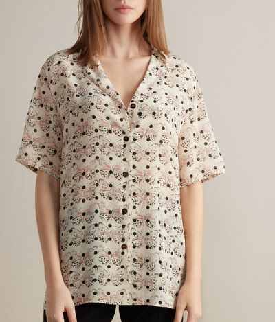 Silk Short-Sleeved Shirt