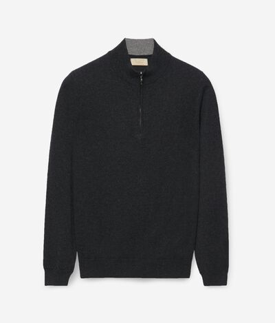 Ultrasoft cashmere half zip sweater