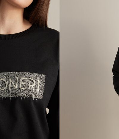 Embroidered Round-Neck Sweatshirt