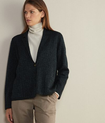 Scratched Jacquard Wool Jacket