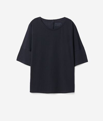 Loose Cotton and Silk T-shirt