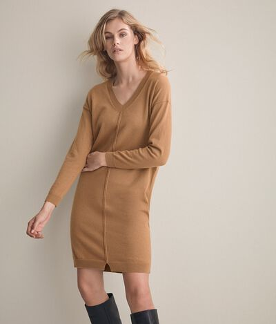 Ribbed Cashmere Dress