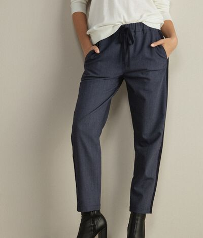 Wollhose in Denim-Optik