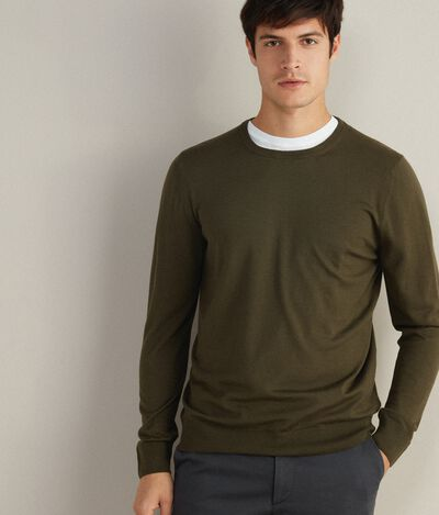 Round Neck Merino Wool Jumper