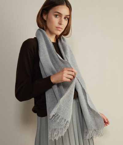 Wool and Lamé Thread Scarf