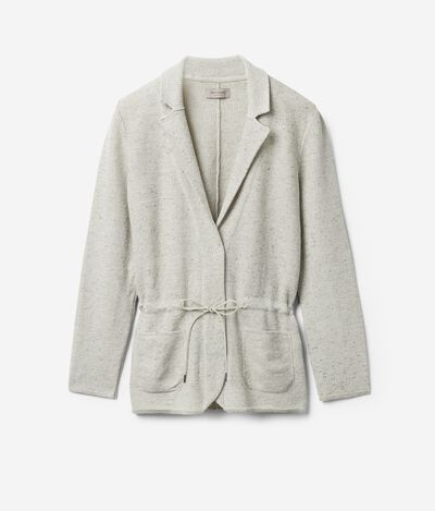 Linen and Cotton Jacket with Drawstring