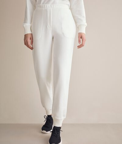 Silk and Cotton Blend Trousers