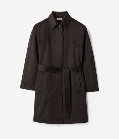Cashmere Coat with Exposed Stitching