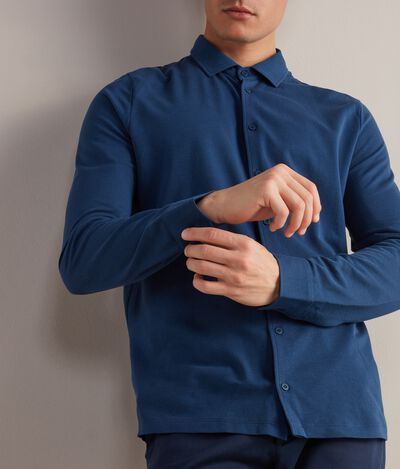 Cotton and Silk Piqué Shirt
