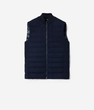 Padded Vest Covered with Cashmere