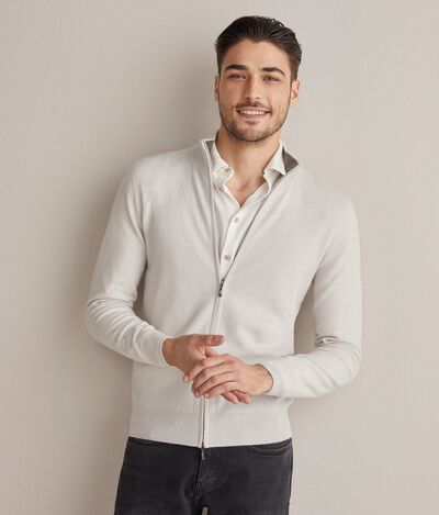Ultrasoft cashmere full zip sweater