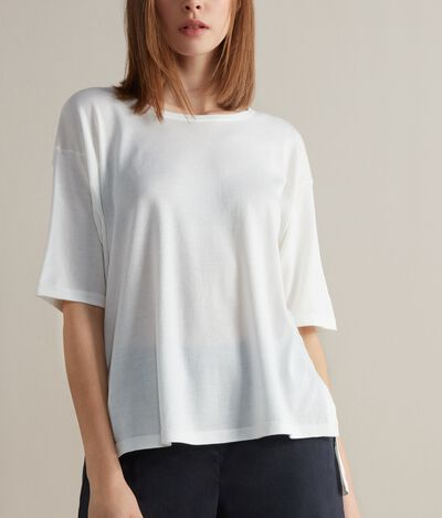 Soft Silk and Cotton Oversized T-shirt