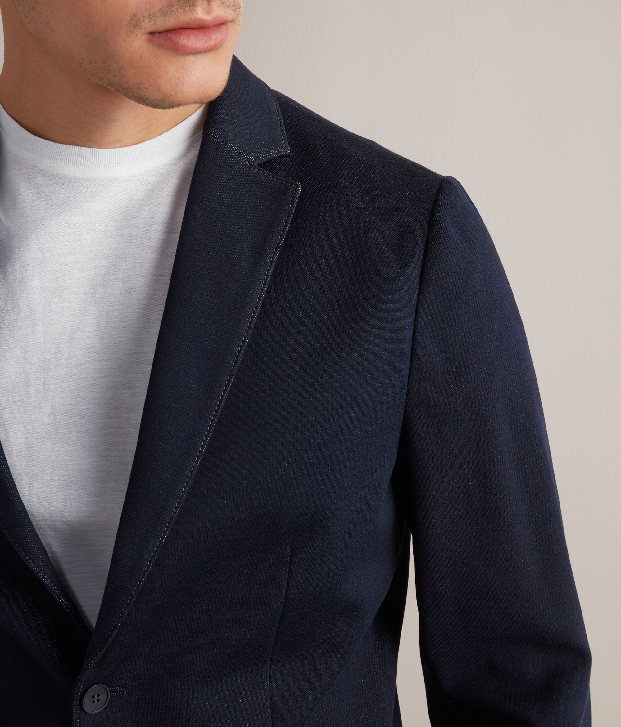 Giacca Effetto Chambray