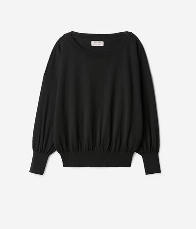 Cashmere Sweater with Ample Sleeves