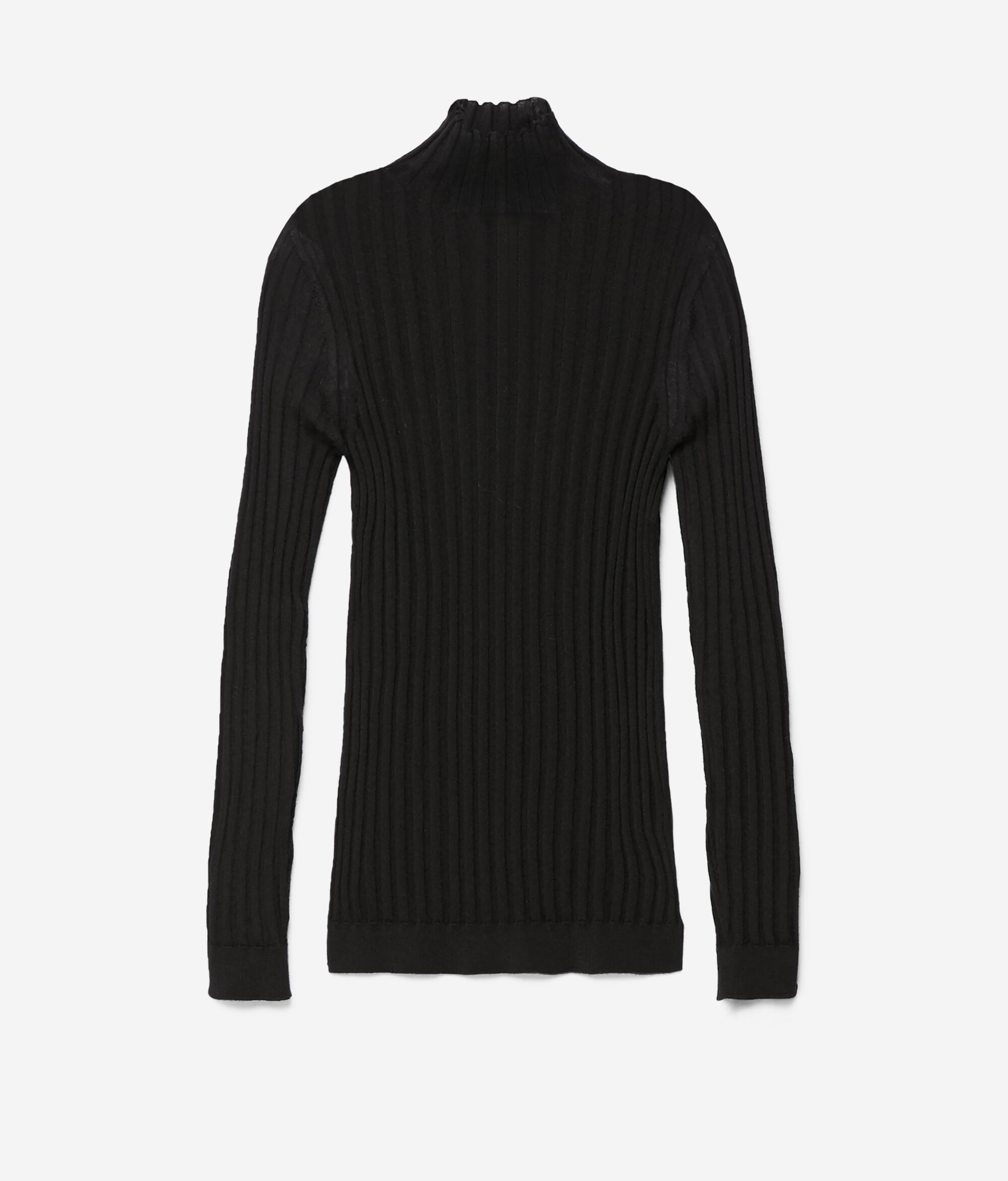 Flat Ribbed Ultralight Cashmere Turtleneck