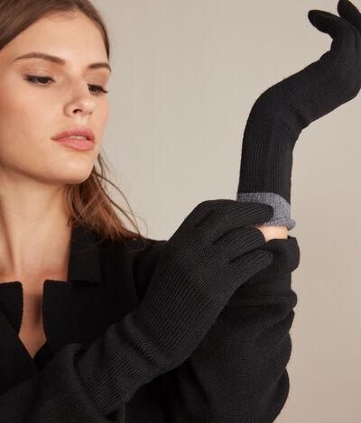 Two-Tone Wool Gloves