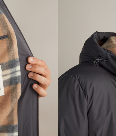 Down Jacket with Cashmere Lining