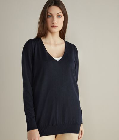 V-Neck Maxi Jumper in Cashmere Ultralight