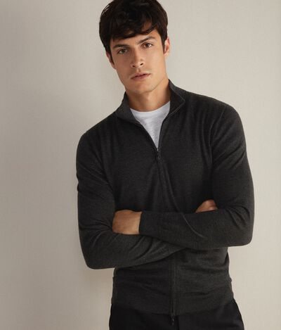Cardigan Zip Cashmere Ultralight