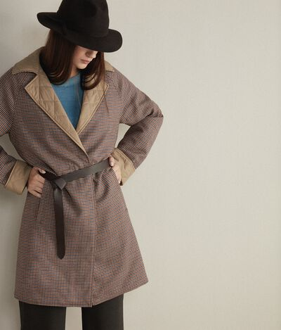Reversible Quilted Trench Coat