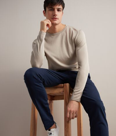 Silk and Cotton Round-Neck Jumper