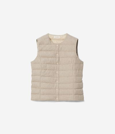 Reversible Cashmere Quilted Waistcoat