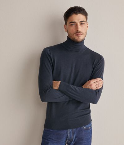 Ultralight Cashmere Polo Neck Jumper