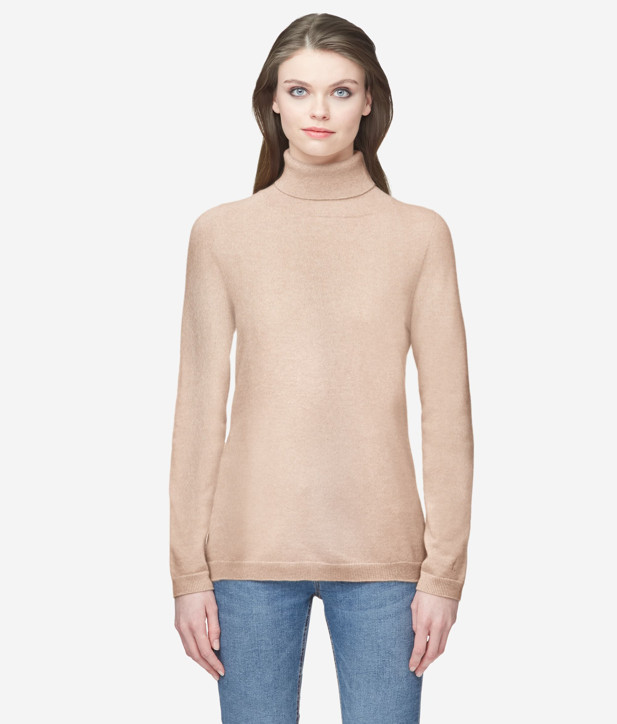 Ultrasoft Cashmere Long-Sleeve Turtleneck Jumper