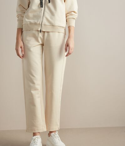 Silk and Cotton Baggy Trousers