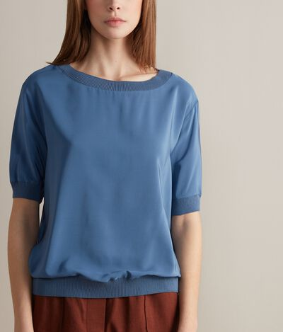 Silk Boat-Neck Jumper