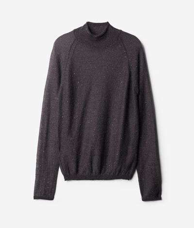 Turtleneck Sweater with Micro-Paillettes